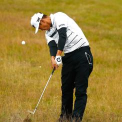 James Hahn during the second round of the 2017 Open Championship.