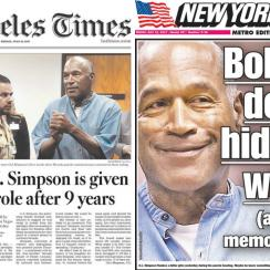 OJ Simpson reaction: Newspaper front pages, headlines