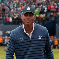 Matt Kuchar walks off the 18th after the final round of the Open Championship at Royal Birkdale.