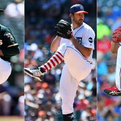 Sonny Gray, Oakland Athletics; Justin Verlander, Detroit Tigers; Yu Darvish, Texas Rangers