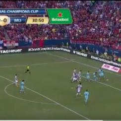 Neymar scored to put Barcelona up 1-0 on Manchester United in the International Champions Cup