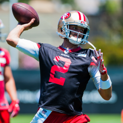 San Francisco 49ers quarterback Brian Hoyer.