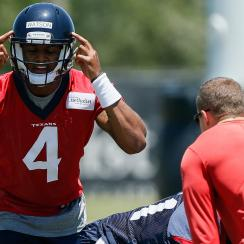 DeShaun Watson has impressed the Texans and is 'ahead of schedule,' according to his head coach.