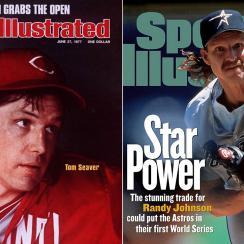 Tom Seaver, Cincinnati Reds; Randy Johnson, Houston Astros