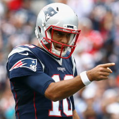 New England Patriots backup quarterback Jimmy Garoppolo.