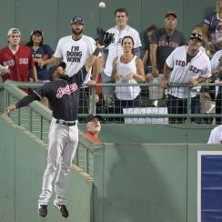 Austin Jackson made one of the best catches you'll ever see to rob Hanley Ramirez.