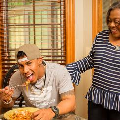 Cleveland Indians Francisco Lindor and his mom