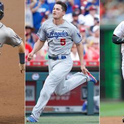 Jose Altuve, Houston Astros; Corey Seager, Los Angeles Dodgers; Bryce Harper, Washington Nationals