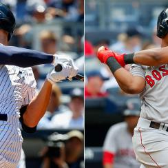 Aaron Judge, New York Yankees; Rafael Devers, Boston Red Sox
