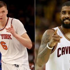 Kristaps Porzingis and Kyrie Irving