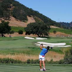 Lydia Ko during the third round of the U.S. Women's Open at CordeValle, before the golf butlers.