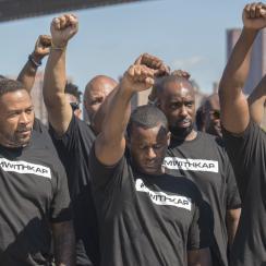 Law enforcement rally for Kaepernick