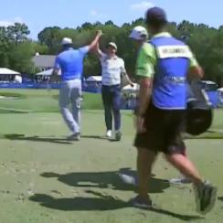 Martin Flores knew his ace on the 16th was going to help secure his card.