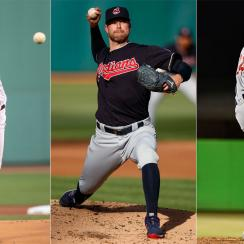 Chris Sale, Boston Red Sox; Corey Kluber, Cleveland Indians; Jon Lester, Chicago Cubs