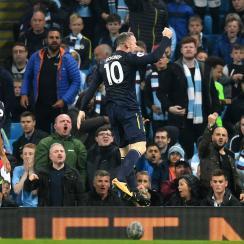 Wayne Rooney scores the 200th goal of his Premier League career