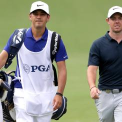 Rory McIlroy said Harry Diamond will caddie for him throughout the playoffs.