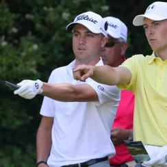 2017 PGA champion Justin Thomas (left) and 2017 Open champion Jordan Spieth are paired together at the Northern Trust.