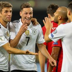 Germany thrashed Norway in a World Cup qualifying match