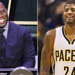 Magic Johnson and Paul George