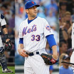 Gary Sanchez, New York Yankees; Matt Harvey, New York Mets; Aaron Judge, New York Yankees