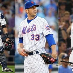 Gary Sanchez, New York Yankees; Matt Harvey, New York Mets; Aaron Judge, New York Yankees