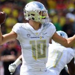 Justin Herbert: Oregon QB leads Ducks to win over Nebraska