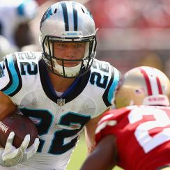 In his first NFL game, Christian McCaffrey totaled 85 yards on 18 touches (13 carries, 5 receptions).