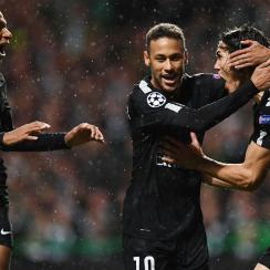 Neymar scores for PSG in the Champions League