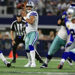 Dallas Cowboys quarterback Dak Prescott targets Jason Witten in Week 1.