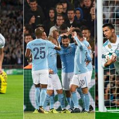 Tottenham, Manchester City and Real Madrid all recorded big Champions League wins