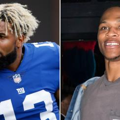 Odell Beckham seen dancing with Russell Westbrook