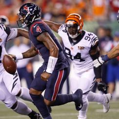 Houston Texans quarterback Deshaun Watson won his first NFL start.