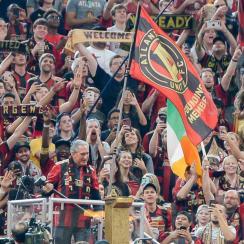 Arthur Blank hits the capo stand at Atlanta United's draw vs. Orlando City