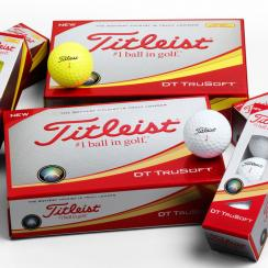The new Titleist DT TruSoft is available in both white and yellow.