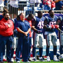 Anthem posture varied across the league Sunday, from standing to sitting to kneeling to entire teams not showing up for the ceremonies.