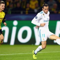 Gareth Bale scores for Real Madrid vs. Borussia Dortmund