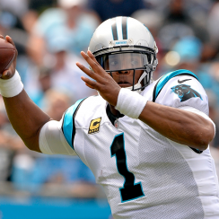Carolina Panthers quarterback Cam Newton.