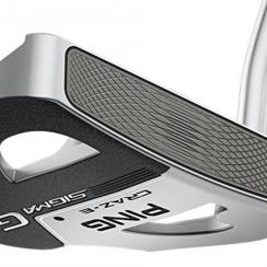 The Ping Craz-E features extra mass in the heel, toe and rear of the head to increase stability.