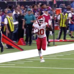 Tyreek Hill punt return touchdown