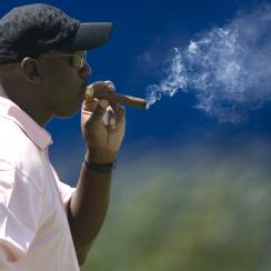 Michael Jordan told Cigar Aficionado that he smokes six cigars per day.