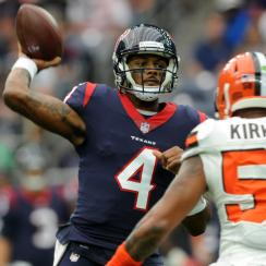 Deshaun Watson has a 101.1 quarterback rating through the first six games of his NFL career.