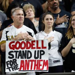 The topic of standing for the national anthem has divided the NFL, from fans to players to league executives and beyond.