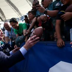 NFL commissioner Roger Goodell has seen the league's television ratings decline in various categories over the past two years.