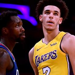 Patrick Beverley and Lonzo Ball