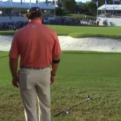 Scott McCarron was not happy after his driver fell and moved his ball—a one-stroke penalty.