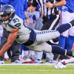 Doug Baldwin had nine catches for 92 yards and a touchdown in the Seahawks' 24-7 win over the Giants on Sunday.