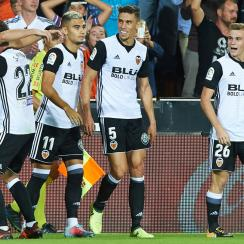 Valencia is in second place in La Liga early in the new season