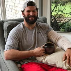 With his team playing more than 3,000 miles away, Joe Thomas watched from his home in Cleveland on Sunday.