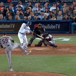 joc pederson, joc pederson home run, World Series game 6, game 6 highlights, rich hill, los angeles dodgers, Houston Astros, World Series highlights