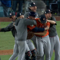 houston astros win world series video last out dodgers